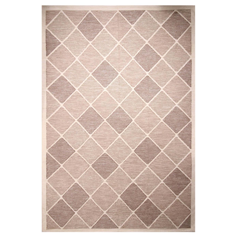 Rug & Kilim's Scandinavian-Inspired Morocco Diamond Beige-Brown Natural Wool Rug