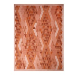 Rug & Kilim's Scandinavian Inspired Orange and Brown Wool Rug