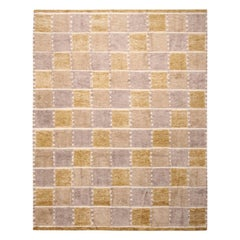 Rug & Kilim's Scandinavian-Inspired Yellow and Gray Wool Pile Rug