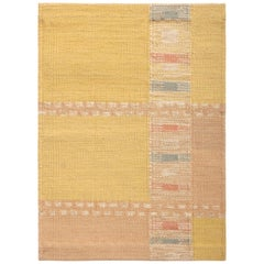 Rug & Kilim's Scandinavian Kilim Sample, Yellow and Pink Custom Rug Pattern