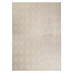 Rug & Kilim's Scandinavian Style Kilim Rug in Beige-Brown Geometric Pattern