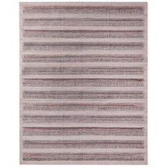 Rug & Kilim's Scandinavian Style Striped Beige Brown Indoor/Outdoor Kilim Rug