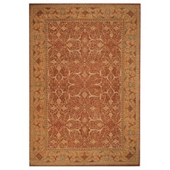 Rug & Kilim's Tabriz Style Rug in Beige Brown All-Over Pattern