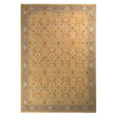 Rug & Kilim's Tabriz Style Rug in Beige Gold Floral Pattern