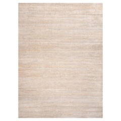 Rug & Kilim's Textural Plain Modern Rug in Beige Two Tones
