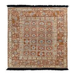 Rug & Kilim's Tribal Style Rug in Beige-Brown All Over Geometric Pattern
