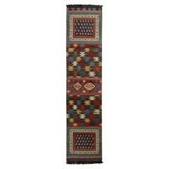 Rug & Kilim's Tribal Style Runner in Beige-Brown All Over Geometric Pattern