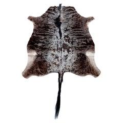 Rug, Wildebeest Hide, Chocolate Brown, South Africa, in Stock, New Hide