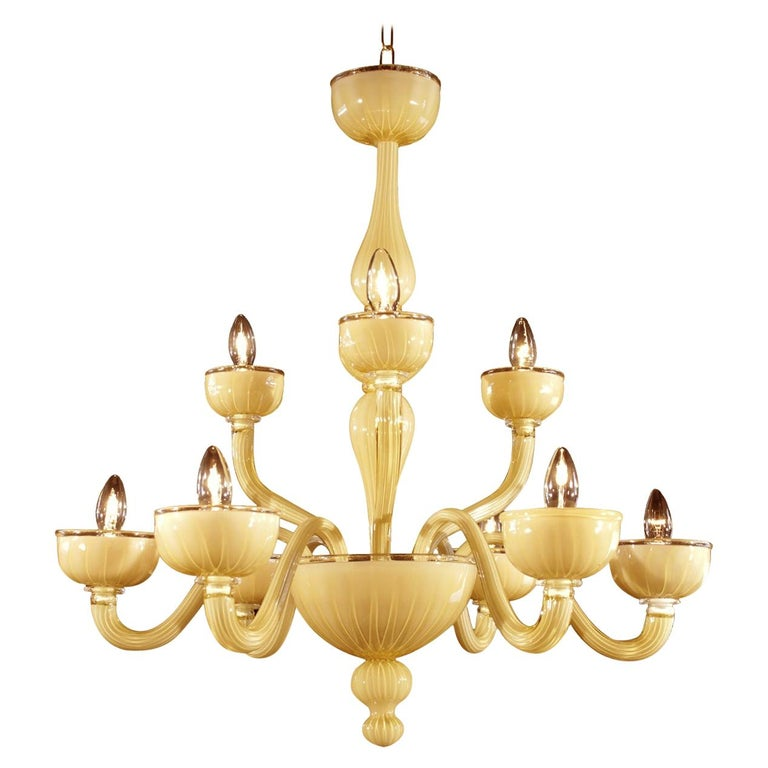 Ruga Yellow Chandelier For Sale