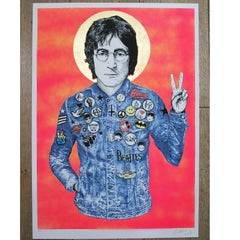 John Lennon Working Class Hero neon Red A/P