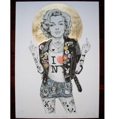 Marilyn Monroe Gold Limited Edition Artists Proof Print