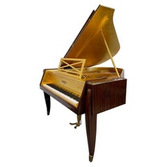 Ruhlmann Grand Piano Art Deco Pleyel French Macassar Rosewood Gold Baby Grand