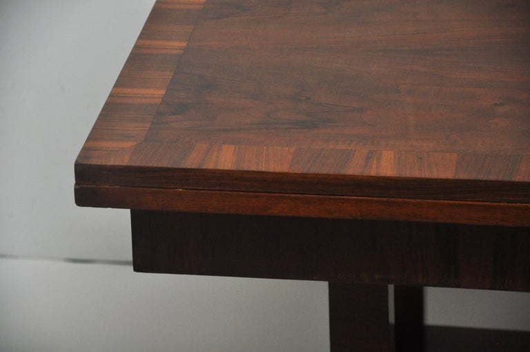 Ruhlmann Style Art Deco Extension Table In Good Condition For Sale In Geneva, IL