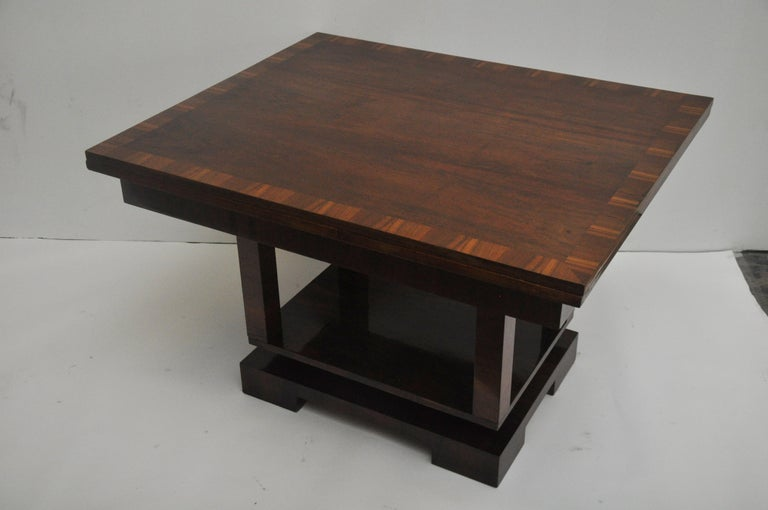 Wood Ruhlmann Style Art Deco Extension Table For Sale