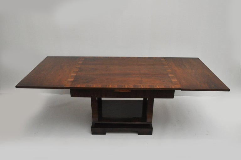 Ruhlmann Style Art Deco Extension Table For Sale 1