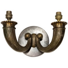Ruhlmann Style Single Two-Branch Sconce