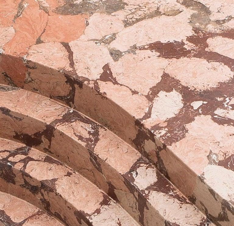 Italian Ruin Baalbeck Coffee Table in Casted Bronze and Marmo Artificiale di Rima For Sale