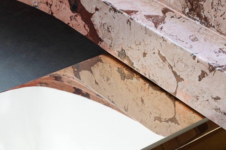 Ruin Baalbeck Coffee Table in Casted Bronze and Marmo Artificiale di Rima In New Condition For Sale In London, United Kingdom