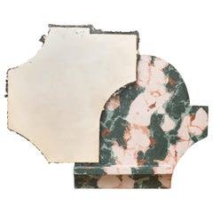 Ruin Hubert Mirror in Casted Bronze and Marmo Artificiale di Rima