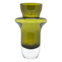 """""""Rumba"""" Vase from """"Marquis by Waterford"""" Green Crystal of Ireland"""