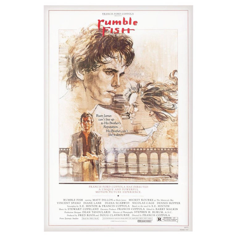 """""""Rumble Fish"""" 1983 U.S. One Sheet Film Poster For Sale"""
