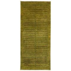 Runner Spring Green Contemporary Gabbeh Persian Wool Rug