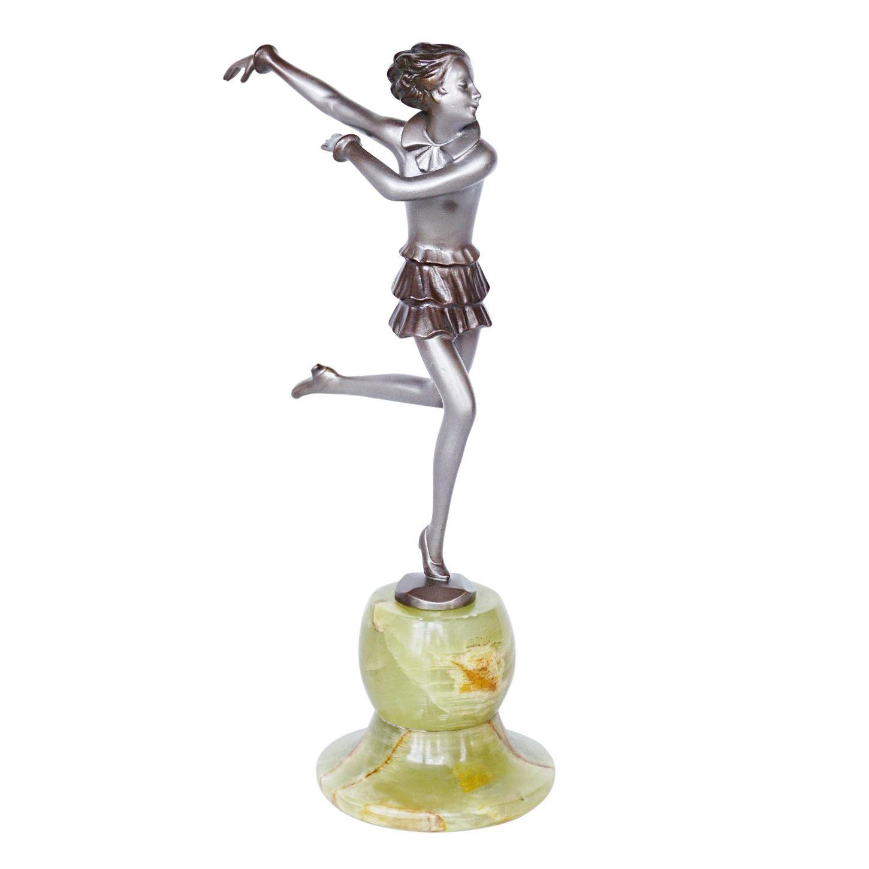 'Running Girl' an Art Deco Bronze Sculpture by Josef Lorenzl