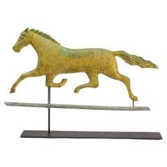 Running Horse Weathervane on Display Stand