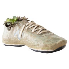 Running Shoe Handmade Glazed Earthenware Planter Unique Edition