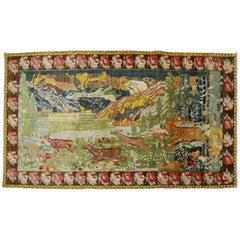 Runnning Deers Pictorial Vintage Karabagh Rug