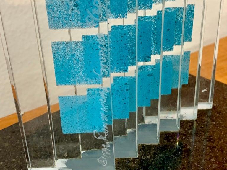 Runstadler Studios 1992 Glass Sculpture For Sale 3