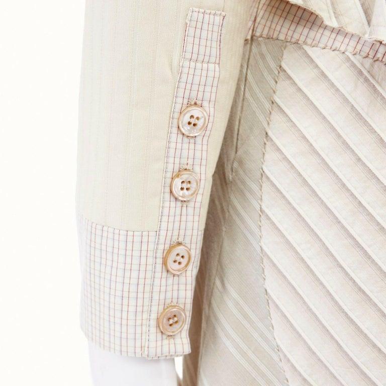 runway ALEXANDER MCQUEEN SS04 Deliverance patchwork blazer jacket skirt set S For Sale 6