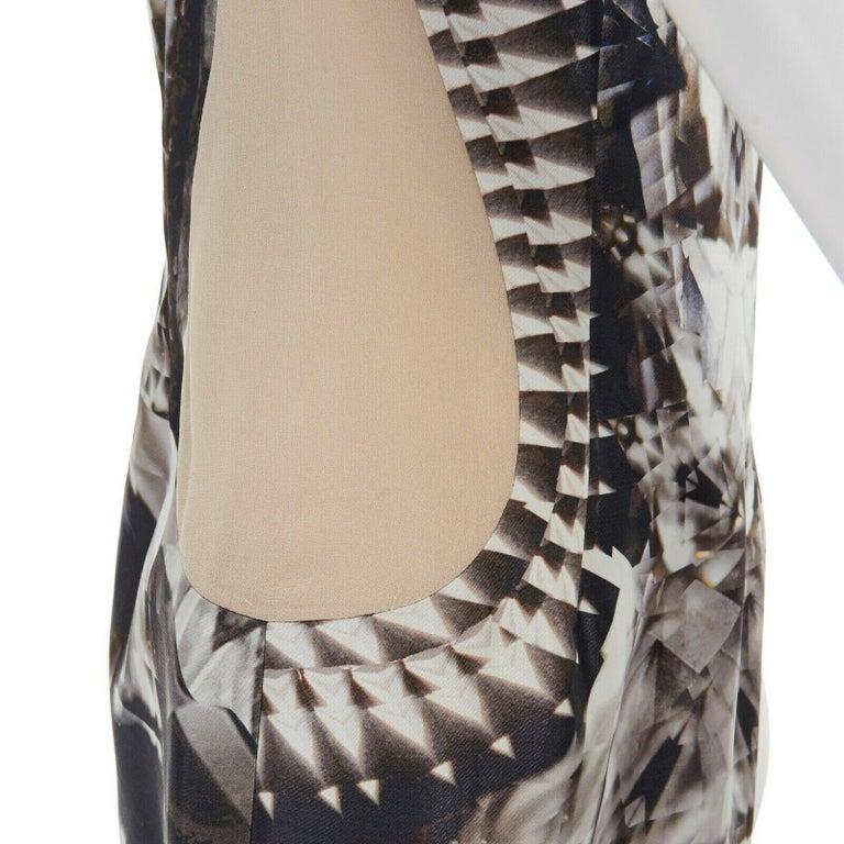 runway ALEXANDER MCQUEEN SS09 silver kaleidoscope skeleton illusion mesh dress M For Sale 6