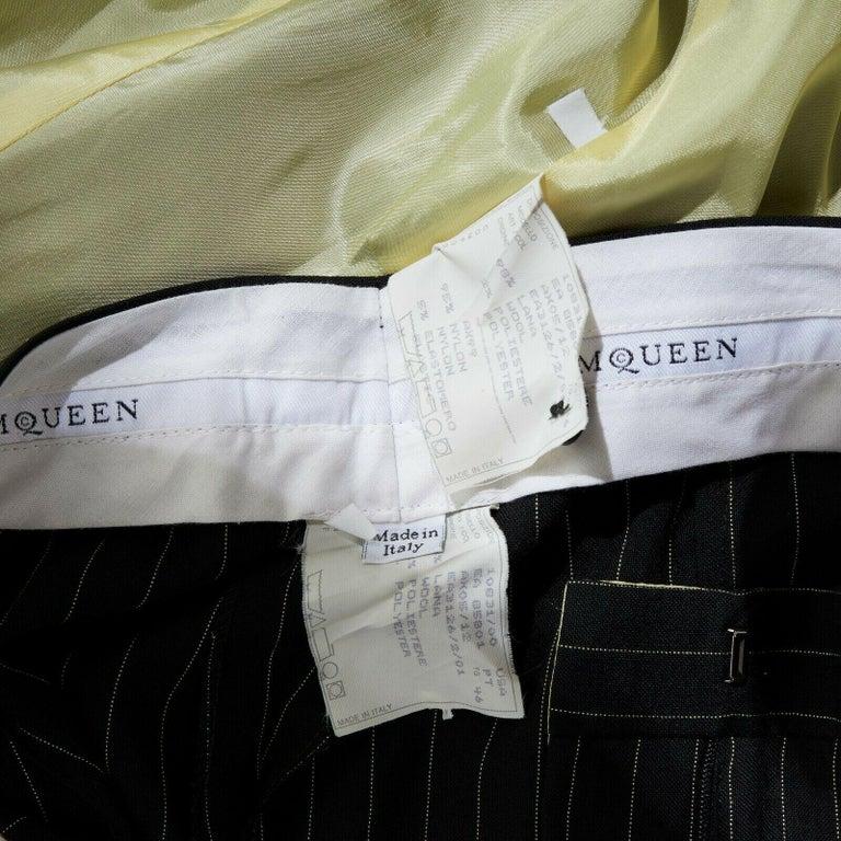 runway ALEXANDER MCQUEEN SS1998 vintage deconstructed jacket pant suit IT46 L For Sale 6