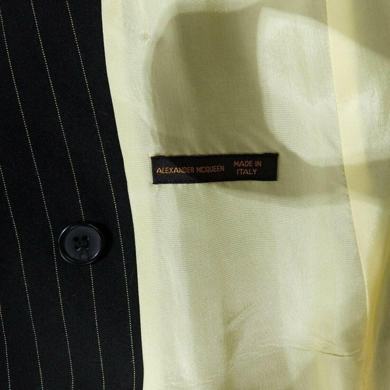 runway ALEXANDER MCQUEEN SS1998 vintage deconstructed jacket pant suit IT46 L For Sale 7