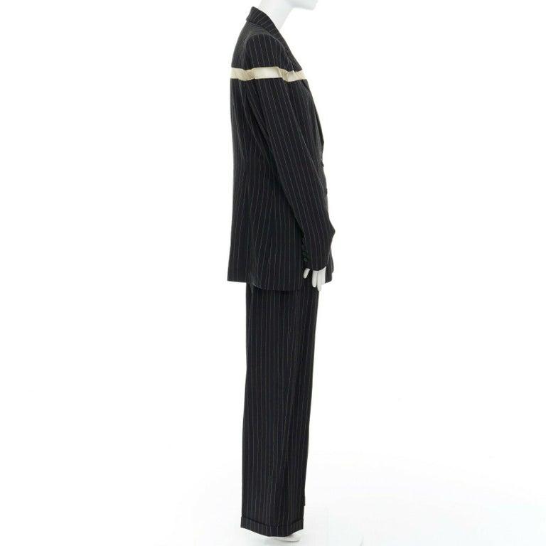 runway ALEXANDER MCQUEEN SS1998 vintage deconstructed jacket pant suit IT46 L For Sale 1