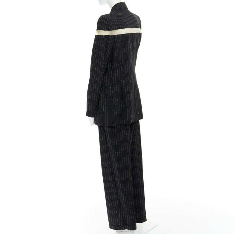 runway ALEXANDER MCQUEEN SS1998 vintage deconstructed jacket pant suit IT46 L For Sale 3
