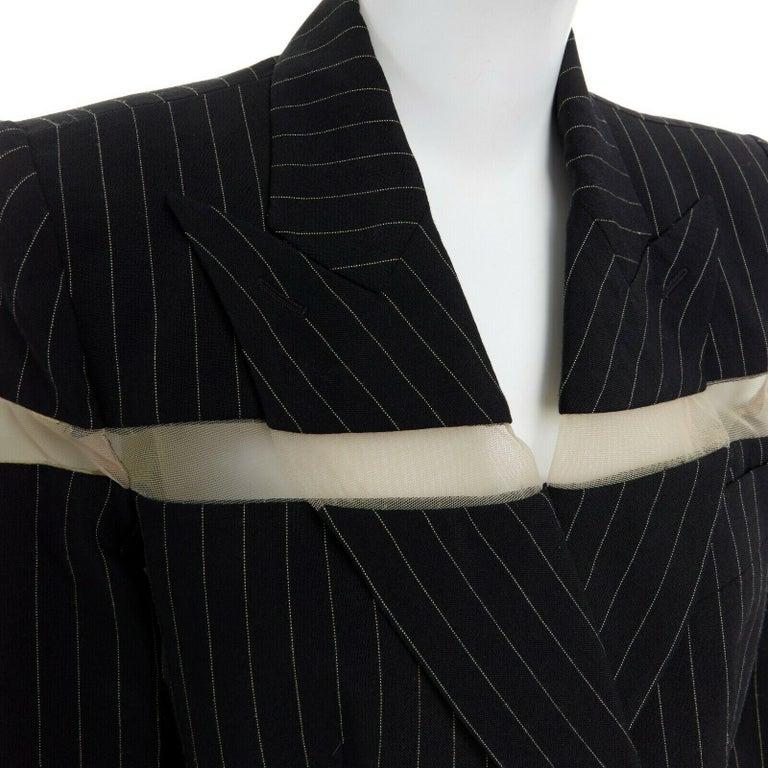 runway ALEXANDER MCQUEEN SS1998 vintage deconstructed jacket pant suit IT46 L For Sale 4
