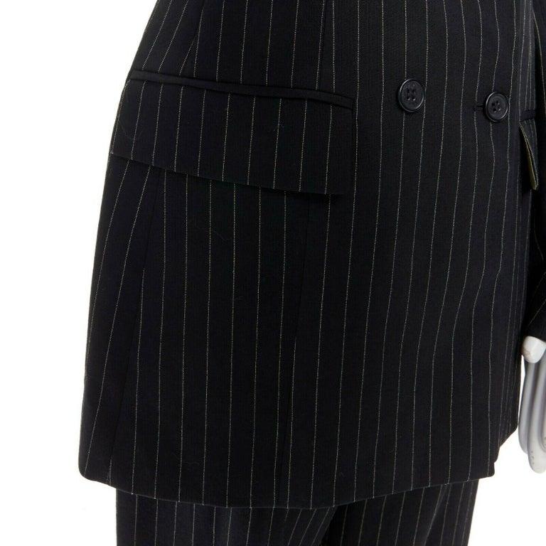 runway ALEXANDER MCQUEEN SS1998 vintage deconstructed jacket pant suit IT46 L For Sale 5