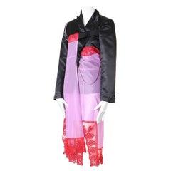 runway COMME DES GARCONS AW01 Beyond Taboo blazer jacket lingerie hybrid dress S