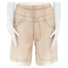 runway COMME DES GARCONS AW09 nude overstitched illustration layered shorts S