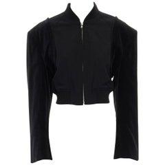 runway COMME DES GARCONS black padded shoulder reconstructed bomber jacket S