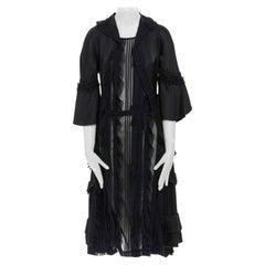 runway COMME DES GARCONS Broken Bride AW05 black victorian ruffle silk dress S