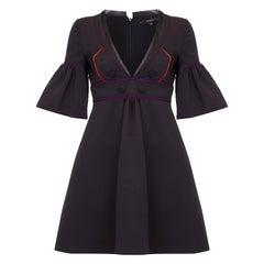 Runway Documented Gucci Spring/Summer 2007 Black Silk Purple & Orange Dress