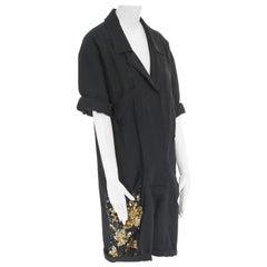 runway DRIES VAN NOTEN gold sequins embellished pocket worker romper jumpsuit S