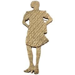 Runway Fall 2010 YVES SAINT LAURENT YSL Woman Silhouette Brooch