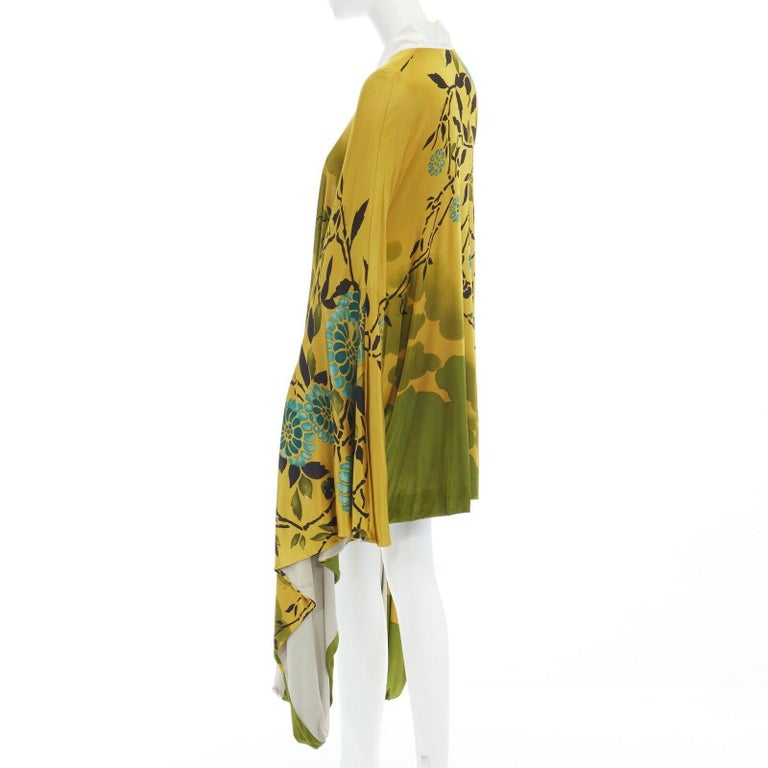 runway GUCCI TOM FORD Vintage SS03 yellow oriental kimono robe jacket IT40 S For Sale 2