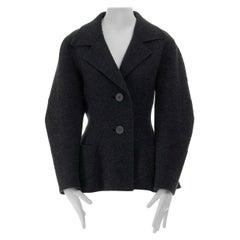 runway ISSEY MIYAKE AW1996 grey star seam wool blazer jacket M FR38 US6 UK10