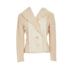 runway ISSEY MIYAKE SS03 layered overstitched lapel linen blazer jacket JP2 M