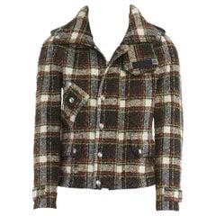 runway JUNYA WATANABE AW2005 checker wool tweed Windstopper lined hooded jacket